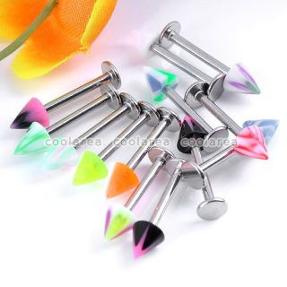 Lot Mixed UV Barbell Hoop Labret Nose Lip Eyebrow Tongue Navel Ring