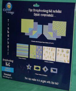 Disney World Disneyland Tinkerbell Scrapbooking Kit Stickers Borders
