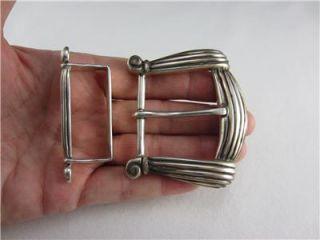 Alexis Kirk Sterling Silver Belt Buckle and Belt Loop