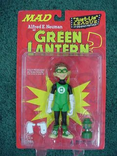 DC DIRECT*MAD ALFRED E. NEWMAN GREEN LANTERN*FULLY POSEABLE ACTION