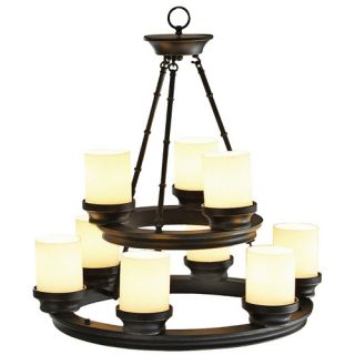 Allen Roth 9 Light Bronze Chandelier New