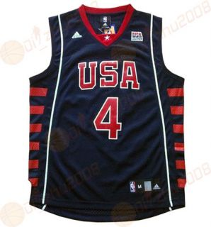 Allen Iverson AI 2004 USA Team 4 Swingman NBA Jerseys