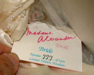 Madame Alexander Bride 21 Doll Porcelain Le RARE