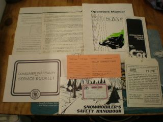 Vintage Arctic Cat Jag Snowmobile Owners Brochures El Tigre Ext Puma