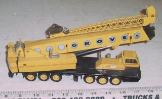 RARE Vintage NZG 152 Telescopic Grove Construction Crane w Germany 1