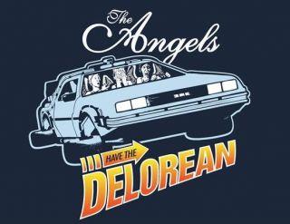 Doctor Who Back To Future Angels Tardis Delorean Teefury Women Medium