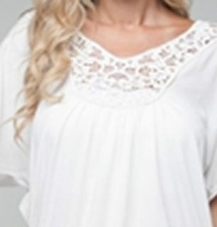 Size 1X SHIRT TOP WOMENS PLUS WHITE SHORT SLEEVE ROMAN FASHION NWT NEW