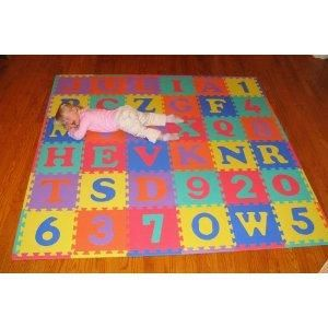 Alphabet and Number Baby Floor Play Mat Numbers Letters Mats Rubber