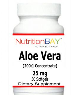 Aloe Vera Supports Digestive Health 200 1 Concentrate 25 MG 30