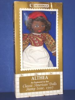 Althea Black Cloth Stamp Issue Doll Horsman 1997 MIB