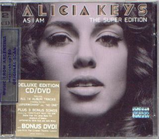 ALICIA KEYS, AS I AM – THE SUPER EDITION. 3 BONUS TRACKS + DVD LIVE