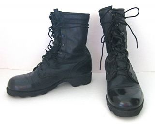 Mens ALTAMA Army Military Boots Tall Black Size 9 W