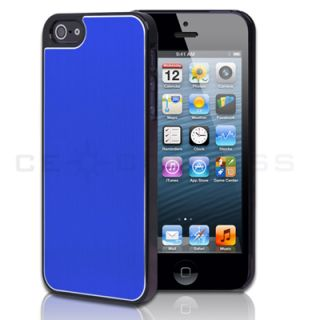 Dark Blue Aluminum Chrome Hard Snap on Case Cover for Apple iPhone 5