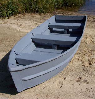 Used 11.5 Aluminum Jon Boat Fishing Car Top V Shape Rowboat +Oars OK