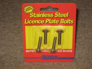 License Plate Bolts Stainless Steel Alpena Metric 6mm