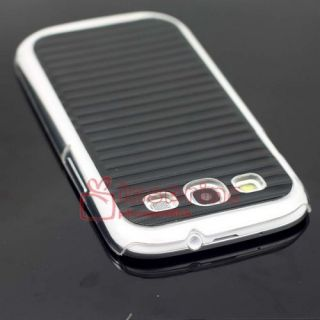 Aluminum Metal Wave Skin Clear Hard Case Cover for Samsung Galaxy S3