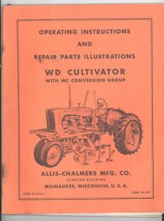 TM 10F ALLIS CHALMERS WD CULTIVATORS install on WC TRACTOR ALSO