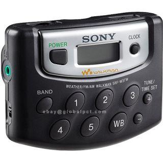 Sony SRF M37W Am FM Radio 5 Preset Walkman w Headphones