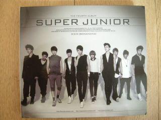 Super Junior BONAMANA Repackage Autographed Signed CD