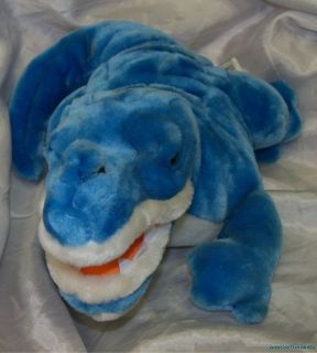 Plush Stuffed 15 Shimmery Blue Alligator Crocodile Gator