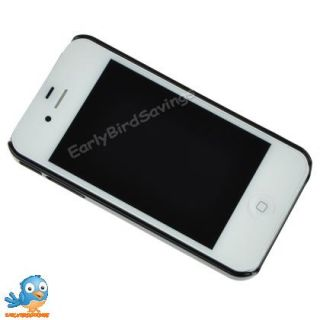 Black Brushed Metal Aluminum Hard Case for iPhone 4 4G 4S