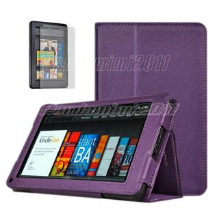 For  Kindle Fire Flip Folio PU Leather Case Cover Stand Screen