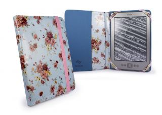 Tuff Luv Slim Book Fabric Case Cover for  Kindle 4 6 E Ink Duck