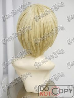 Kuroshitsuji Alois Trancy Short Bob Blonde Cosplay Wig