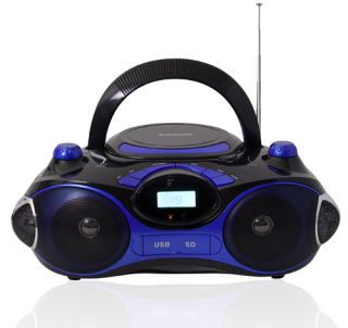 Am FM CD MP3 Radio Player with USB SD Aux Input w Remote Blue