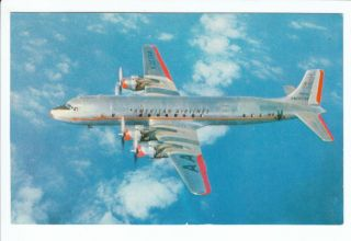 Old American Airlines Airplane Plane DC 7 Postcard Vintage Airline
