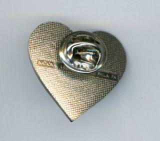 love america heart shaped american flag lapel hat pin