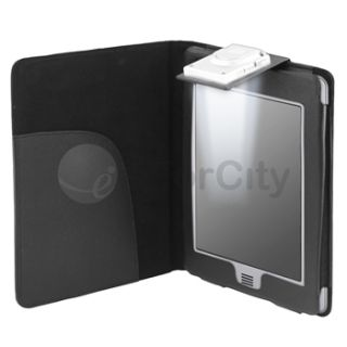 For  Kindle Touch Black LED Light Lighted Leather Case Cover