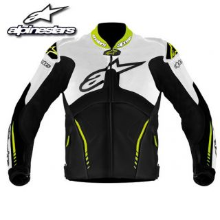 Alpinestars Atem Leather Jacket White Black Yellow Fluo 50 Euro 40 US