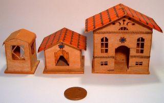 Miniature Balsa Wood Houses Doll House Miniature Nursery Toys