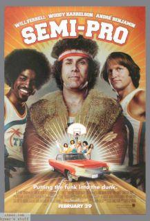 Semi Pro Mylar Original 1shee Movie Poser Baskeball