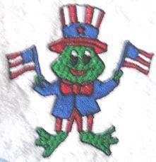 American Flag Frog Towel USA New Patriotic Collectible