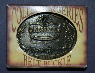 Belt Buckle Kessler American Whiskey Solid Brass 1993 Limited Edition