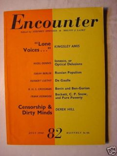 Encounter Magazine July 1960 Nigel Dennis Kingsley Amis