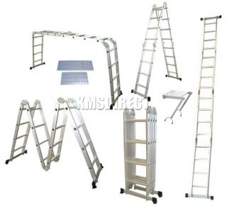 7M Multi Purpose Aluminium Extension Ladder Step Tray