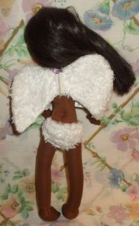 Mattel 14 Black African American Angel Doll Vinyl Cloth Bendable Arms