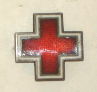 1940s AMERICAN RED CROSS Pin STERLING Silver  CAP Pin WWII era