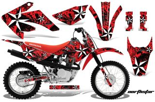 AMR RACING MX DIRT BIKE OFFROAD GRAPHICS DECAL KIT  HONDA CRF80/100