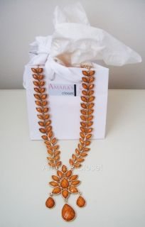 Amrita Singh 18K Gold Plated Dune Necklace Brand New