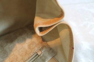 Michael Kors Beige Monogram PVC Coated Amagansett Tote