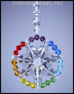 Swarovski Crystal Suncatcher Lilli Heart Designs Star of Life