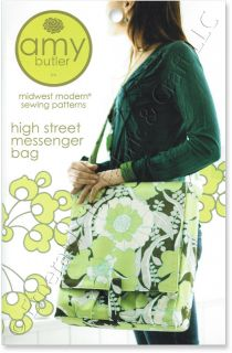 Amy Butler High Street Messenger Bag Tote Carry All Sewing Pattern New