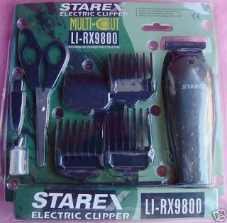 Starex Professional Hair Clipper Kit 4 Comb Haircut New