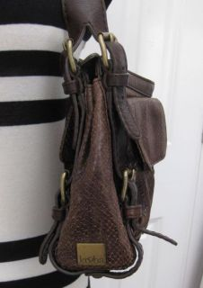 Gorgeous Kooba Brown Snakeskin Leather Purse Handbag