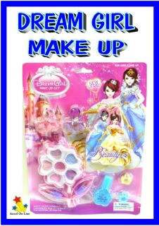 Dream Girl Kids Make Up Set Hair Accessories Dress Up Bulk Lot