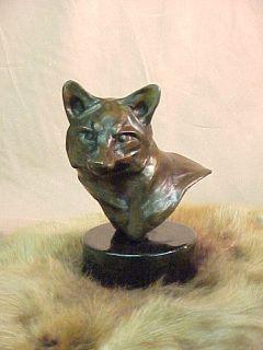 Dennis Anderson Red Fox Ed Bronze Art Sculpture